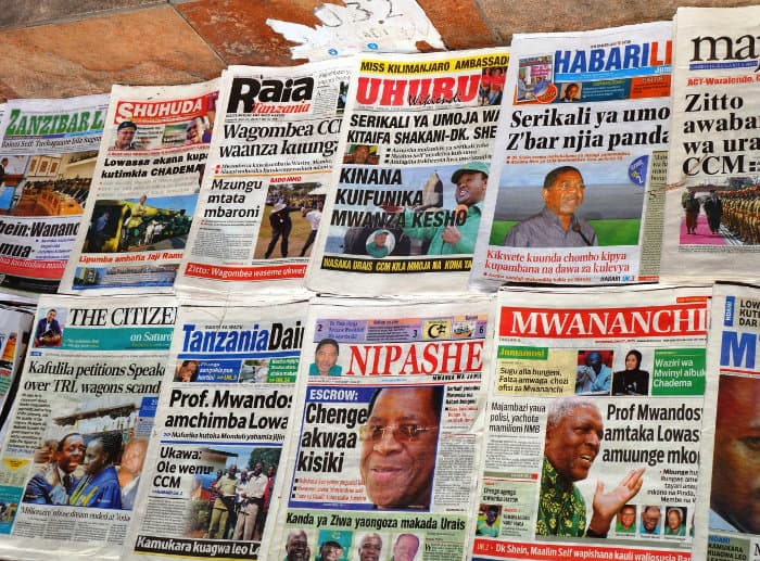 Swahili newspapers in Dar es Salaam, Tanzania
