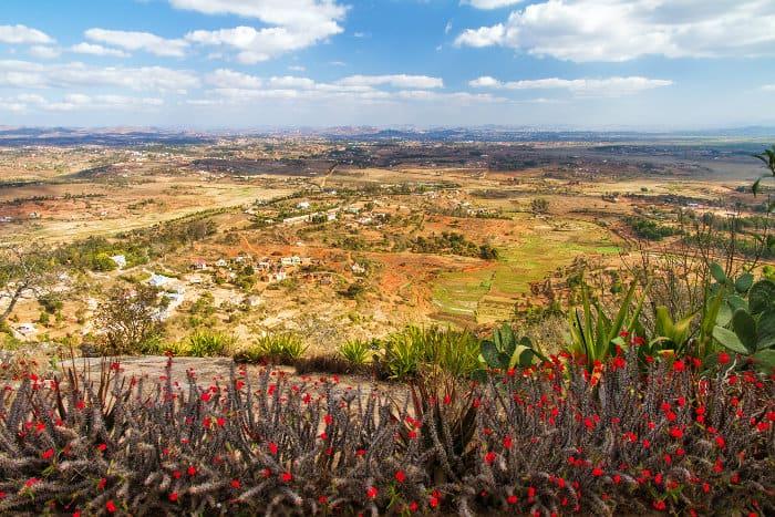 View of Antananarivo from the Royal Hill of Ambohimanga