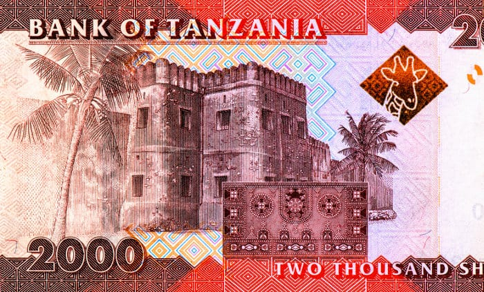 Old Fort (Ngome Kongwe) on a two thousand shillings banknote