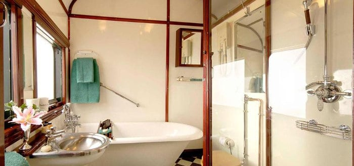Rovos Rail - Royal Suite bathroom
