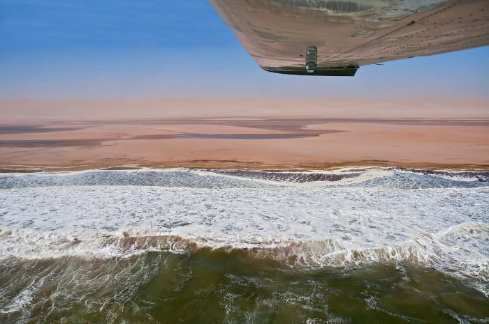 The Skeleton Coast by light aircraft, Namibia