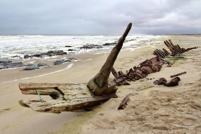One of many shipwrecks on the Skeleton Coast, Namibia