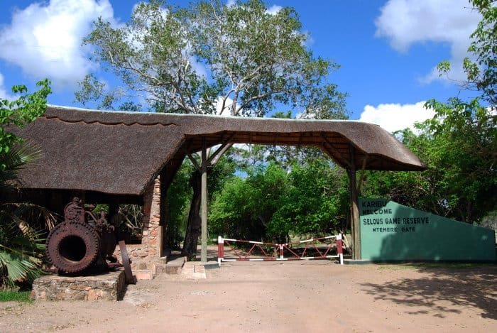 Mtemere Entrance Gate in the Selous Game Reserve