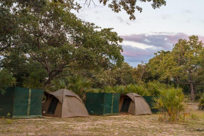 Bush camp in the Selous Game Reserve, Tanzania