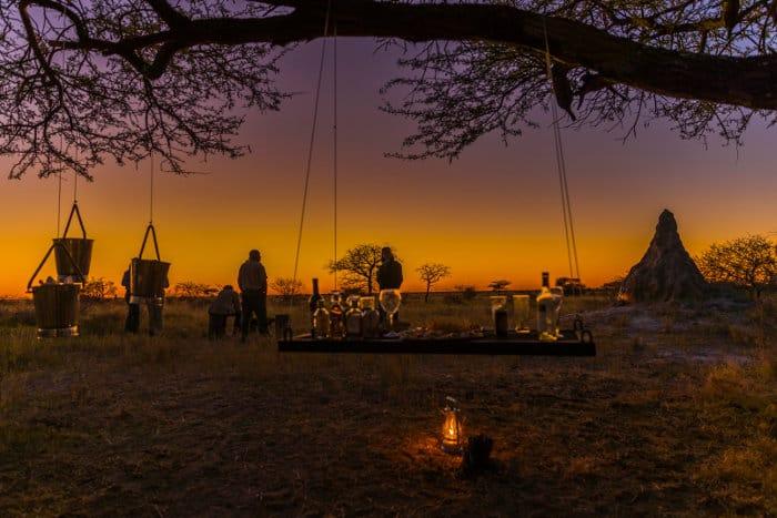 A romantic sundowner in Onguma Game Reserve, Namibia