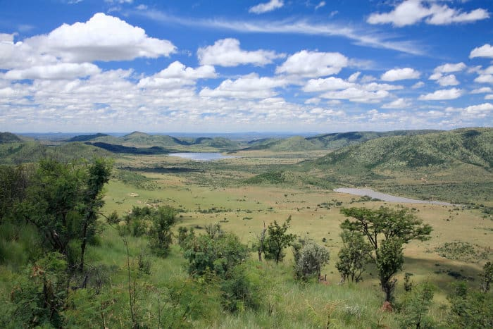 Typical landscape in the Pilanesberg Game Reserve