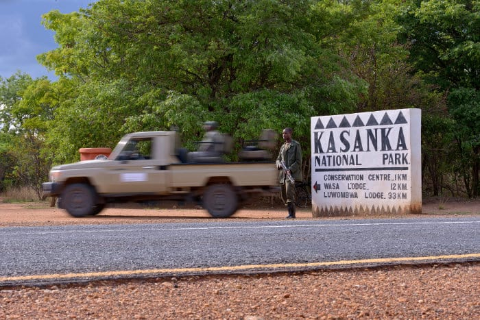 Entrance gate sign to Kasanka National Park