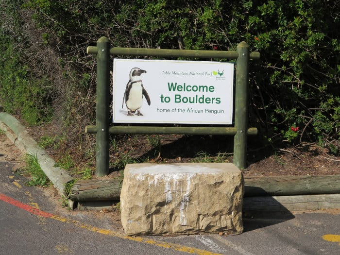 """""""Welcome to Boulders Beach"""" entrance sign"""