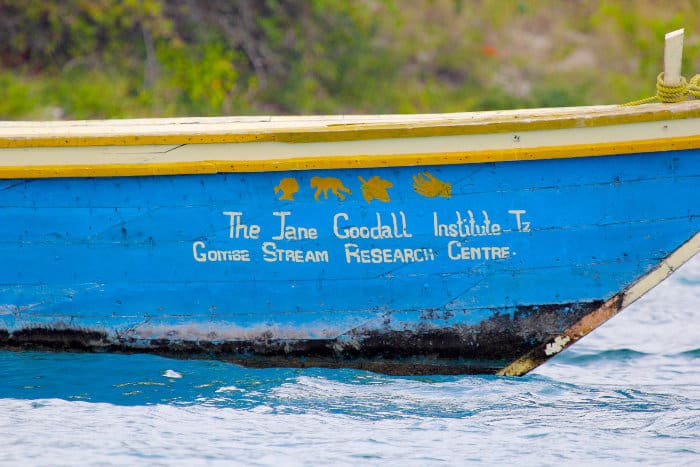 Boat from the Gombe Stream Research Centre (The Jane Goodall Institute)