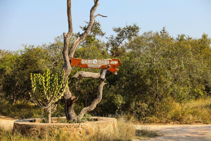 Sign to the Sabi Sabi Bush Lodge
