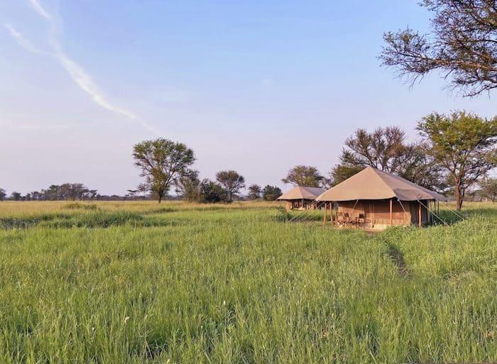 Tented camp in Tanzania | Photo credits: Zawadi camp