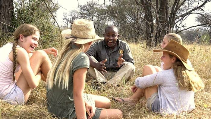Kids enjoying a family safari